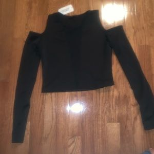 NWT cold should crop top with net down middle